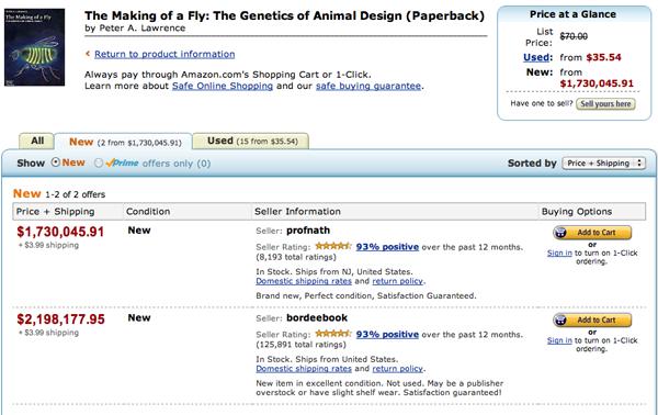 Amazon天价书及周边八卦